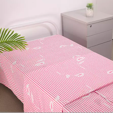 Woven Cotton/Polycotton/Polyester Bedsheet for Hospital Single/Twin Bed Flat/Fitted Sheets