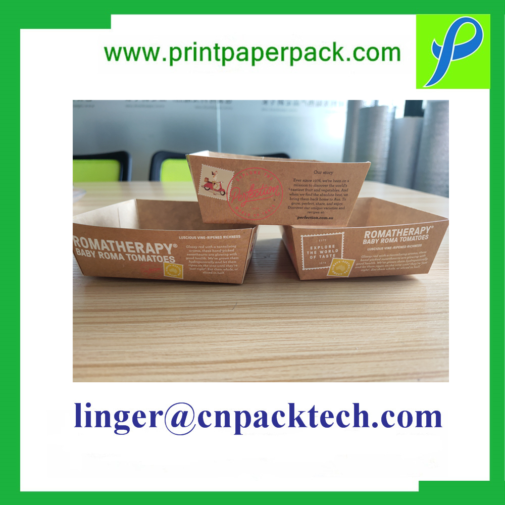 Bespoke Food Grade Paper and Oil Burger Fast Food Tray Box