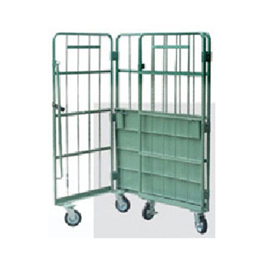 Logistics Truck   Wire Containers Exporter  Pallet Rack Wire Mesh Deck Manufacturers  Cold galvanizing flared wire mesh decking