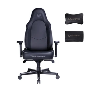 VICTORAGE PU Leather Home Seat Office Chair(Black)