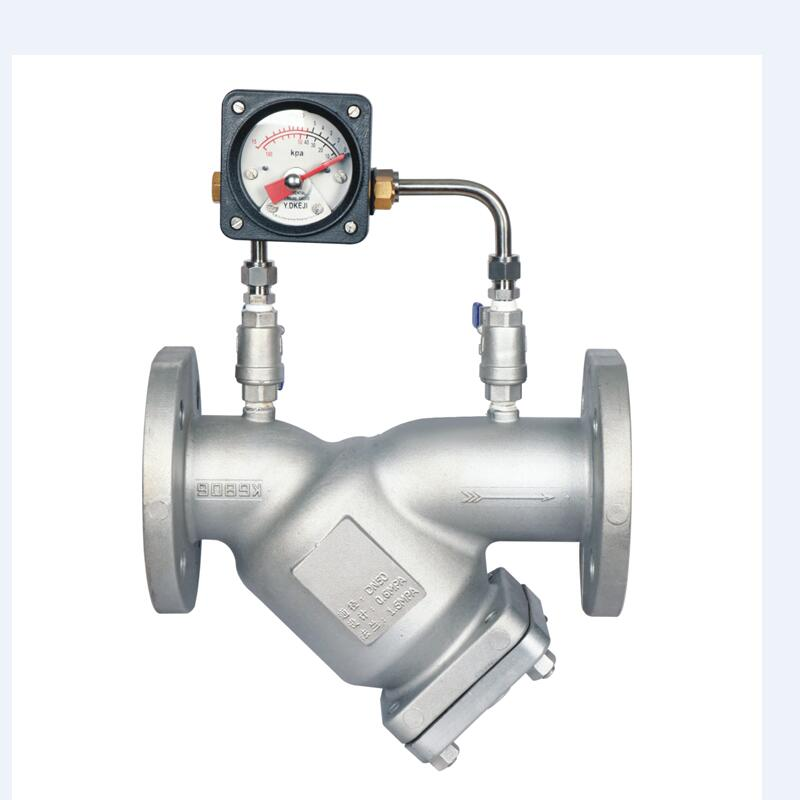 Alimunium Alloy Fuel Gas Y Strainers with Pressure Gauge