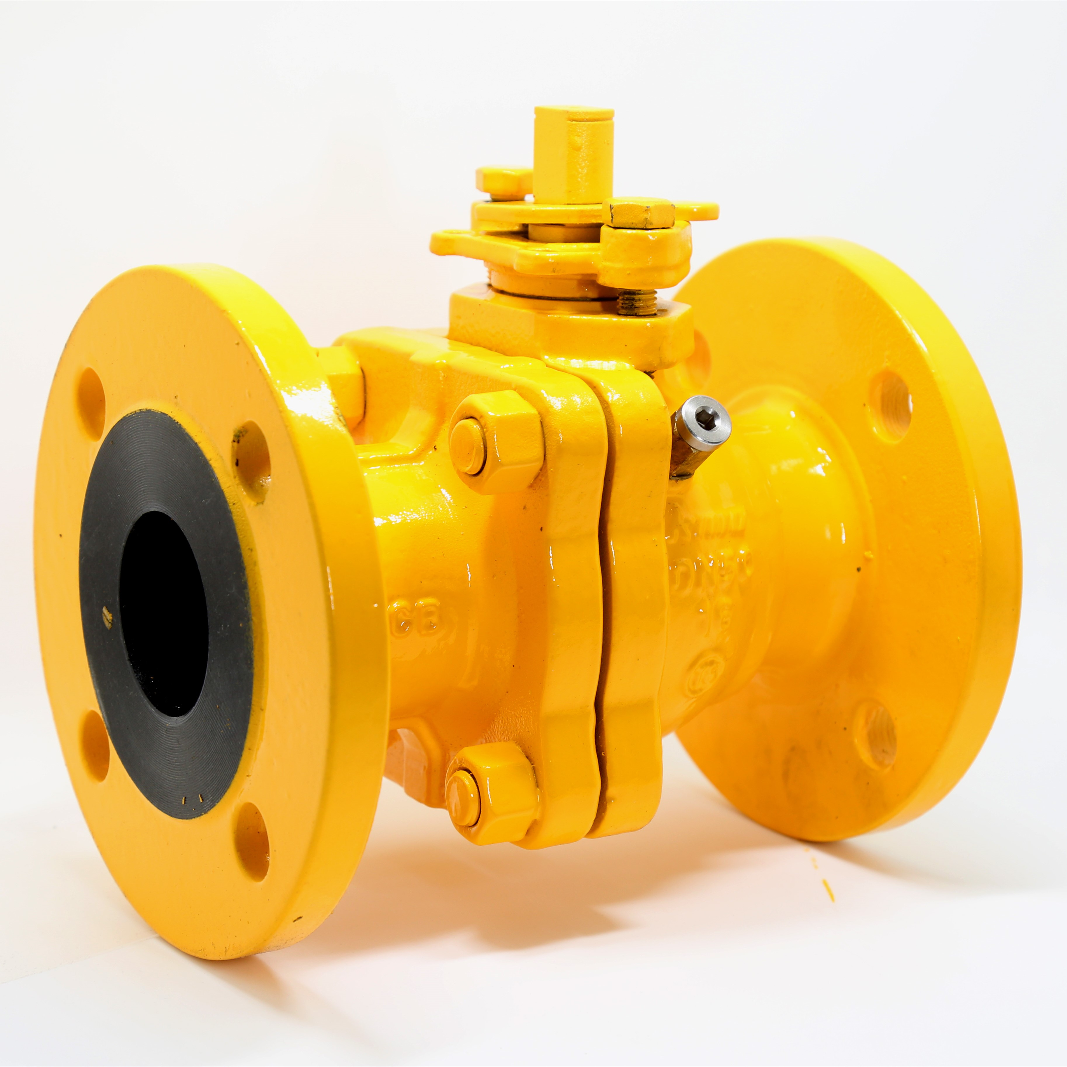 GB /JB / HG / DIN Manual Flange Fuel Gas 304 Solid Ball Valve