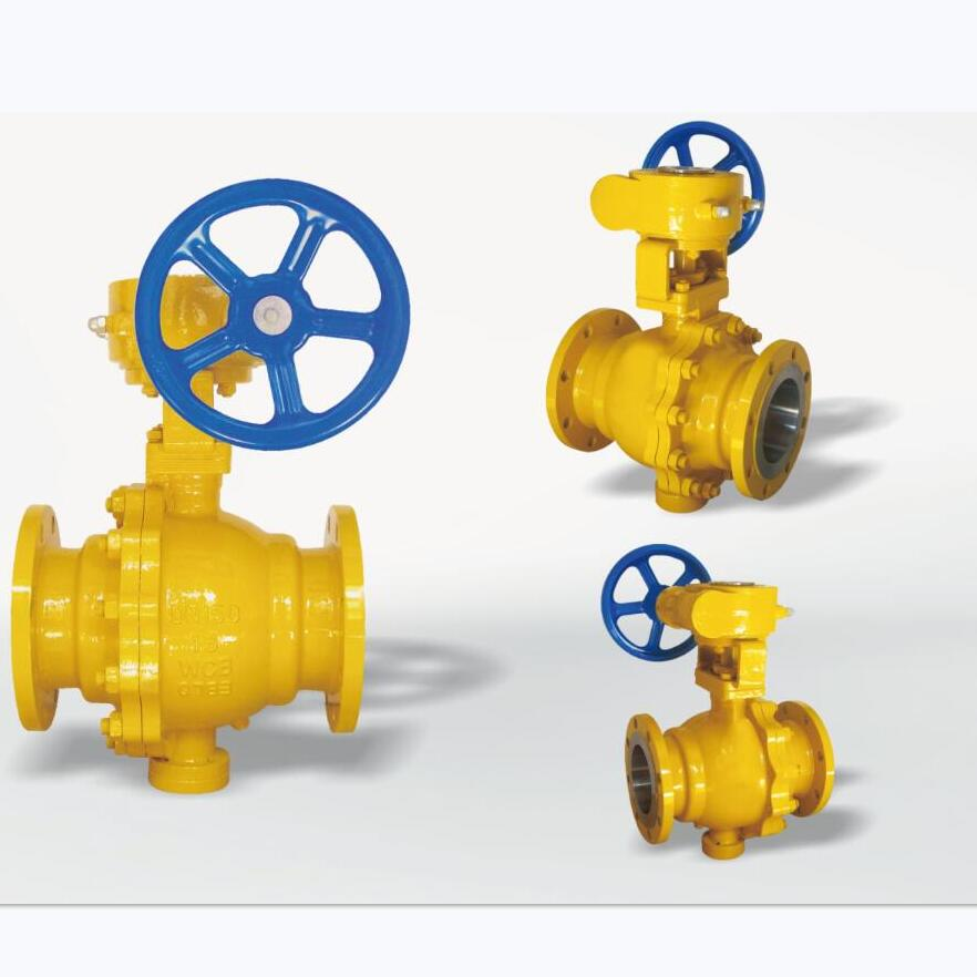WCB Worm Gear Gas Fixed Ball Valve