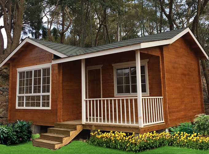 Ingreen IG-1-001 one floor wooden house prefab cabin timber frame house