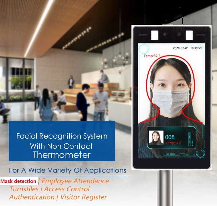 2020 temper2020 temperature detection measure +8 inch Face recognition infrared thermometer ,can make time attendance,access controlsystemature detection measure +8 inch Face recognition infrared ther