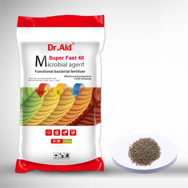 Dr. Aid NPK 24 6 10 Microbial agent-Based Fertilizer