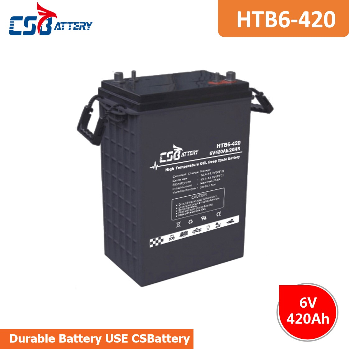 Csbattery 6V420ah Deep Cycle Gel Liquid Battery for Power Solar Energy