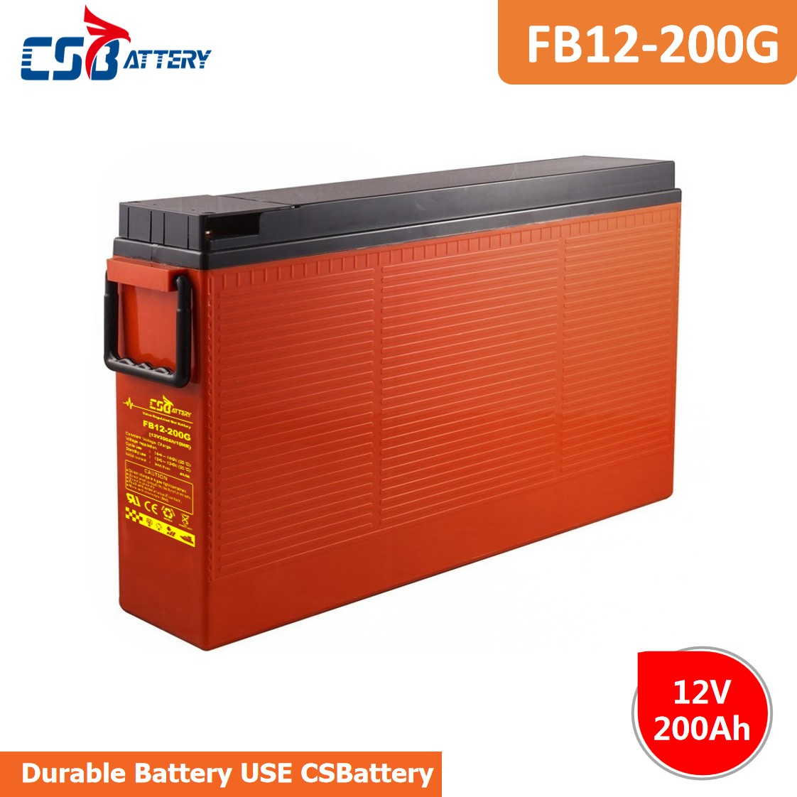 Csbattery 12V 200ah Front Access VRLA Battery for Solar