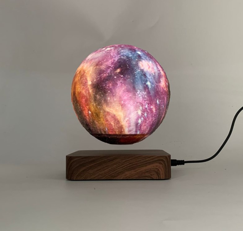 magnetic levitation starry moon lamp 6inch ,floating star moon light
