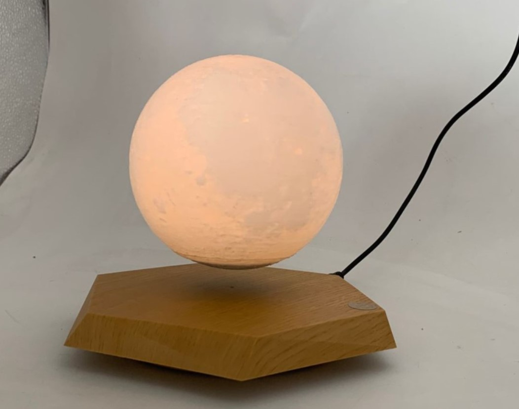 NEW wooden base magnetic levitation floating 5inch 3d MOON lamp light gift christmas