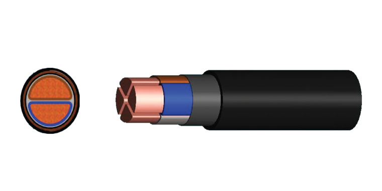 2 Cores Power Cable (XLPE Insulated)