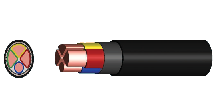 3 Cores +1 Earth Power Cable (XLPE Insulated)