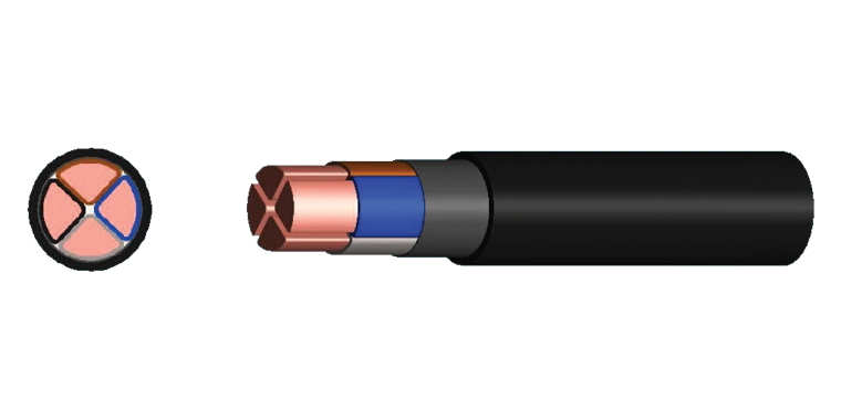 4 Cores Power Cable (XLPE Insulated)