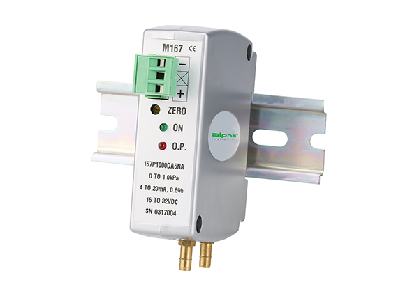 Model 167 DIN Rail Mount Differential Pressure Transducer