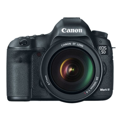 Canon EOS 5D Mark III 22.3 MP Full Frame CMOS Digital SLR Camera 5D Mark III Body 24-105mm Lens