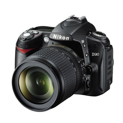 Nikon D90 12.3MP DX-Format CMOS Digital SLR Camera With 18-105mm Lens