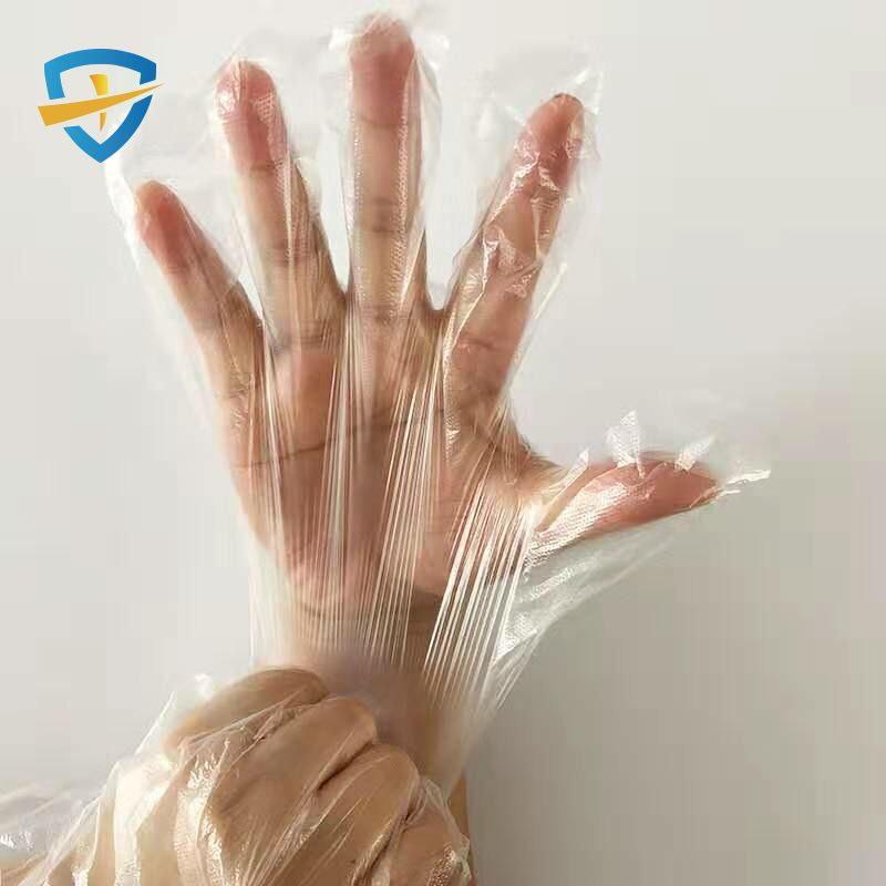 Household kitchen products PE plastic disposable gloves
