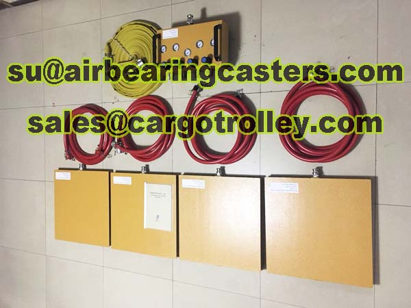 Air bearing casters easy to operate and more convenient