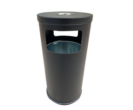 MAX-HK73 Wholesale Outdoor Street Steel Bucket Recycling Dust Bin Outside Litter Bins Garbage  with Ashtray