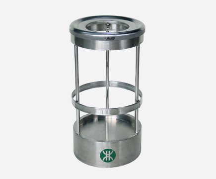 MAX-SN116 Indoor Stainless Steel Transparent Recycle Waste Trash Bin Dustbin with Ashtray