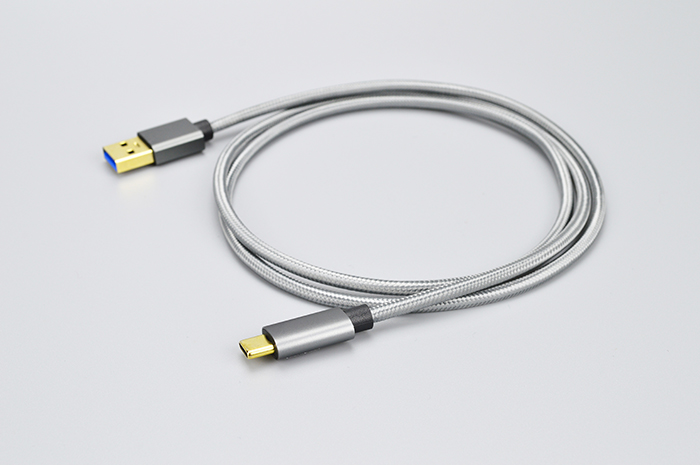USB Type C to USB 3.0 Cable Silver Braid