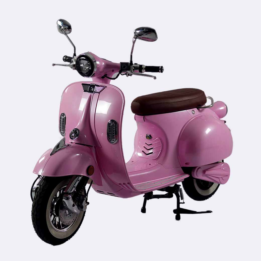 Classic EV2000W Vespa-style Electric Moped Retro Model