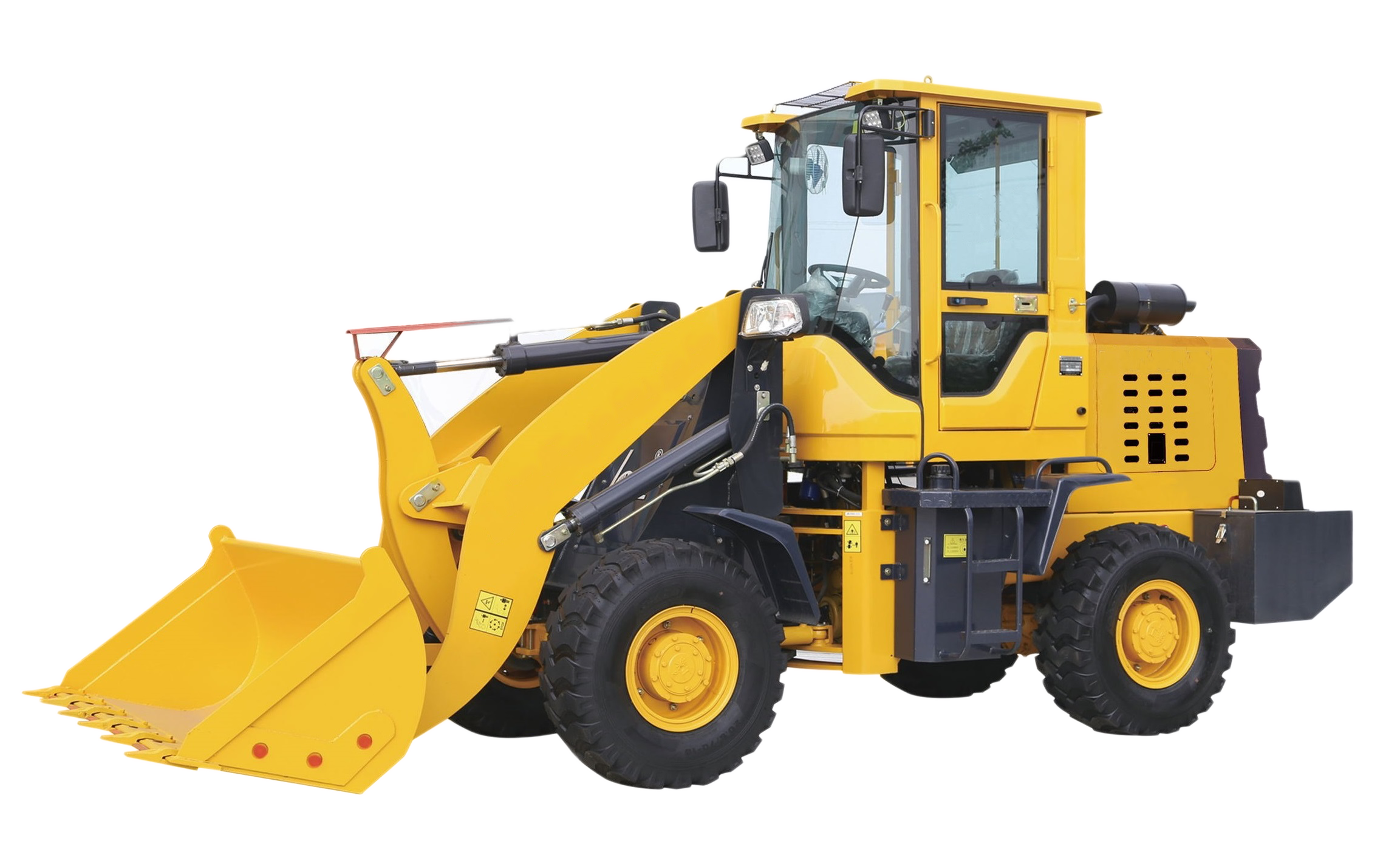 crawler excavator, wheel loader, backhoe loader