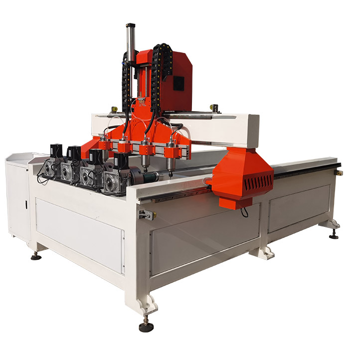 Multi-spindle 3d 4 Axis Rotary CNC Wood Router