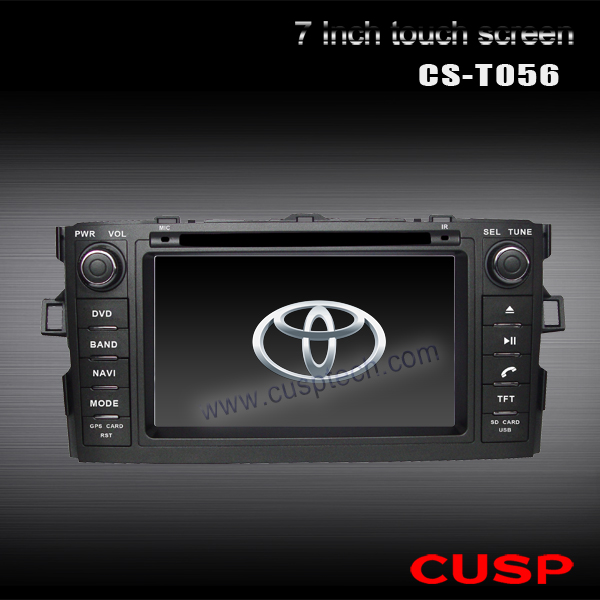 CS-T056 CAR multimedia PLAYER WITH GPS navi FOR TOYOTA COROLLA HATCHBACK / AURIS