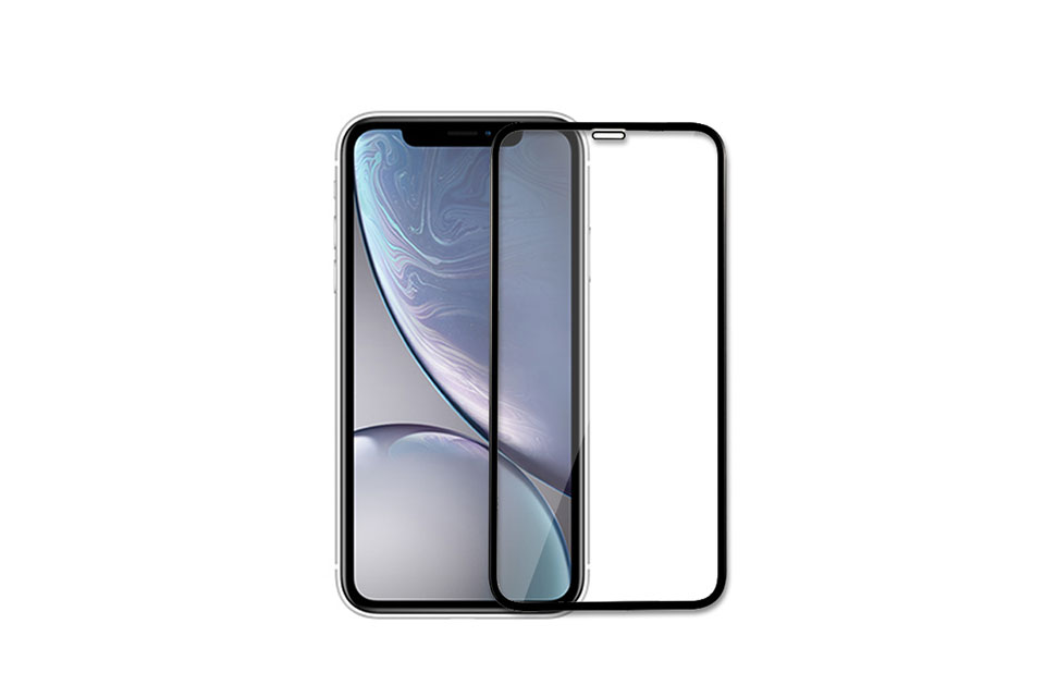 FULL SCREEN TEMPERED GLASS SCREEN PROTECTOR FOR IPHONE XR