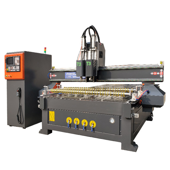 Multi-Tool CNC Router with Oscillating Knife
