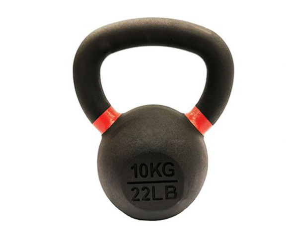 10kg Cast Iron Powder Coated Kettlebell