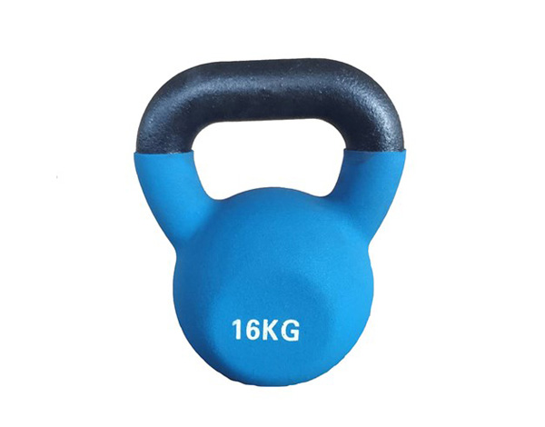 16kg Cast Iron Vinyl Coated kettlebell