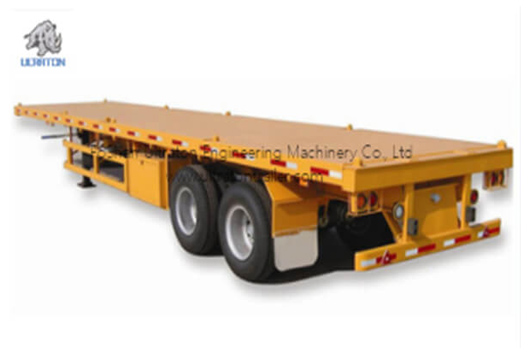 2 Axles 20ft Skeletal Container Transport Semi Truck Trailer