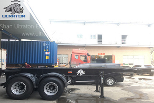 2 Axles 40ft Skeletal Container Transport Semi Truck Trailer