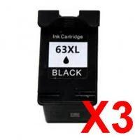 Compatible 3 Pack HP ENVY 4520 Black Ink Cartridge - 480 pages