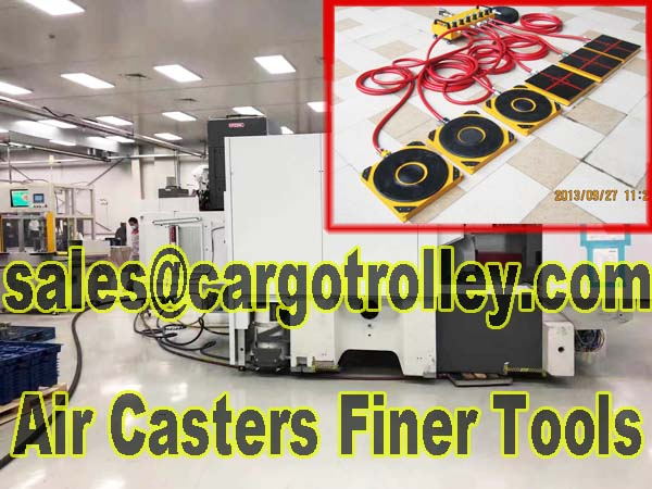 Air caster rigging systems for anyone can use with no special training is workable