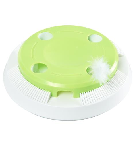 POILS BEBE ELECTRIC UFO-SHAPE TOY WITH SPIN FEATHER
