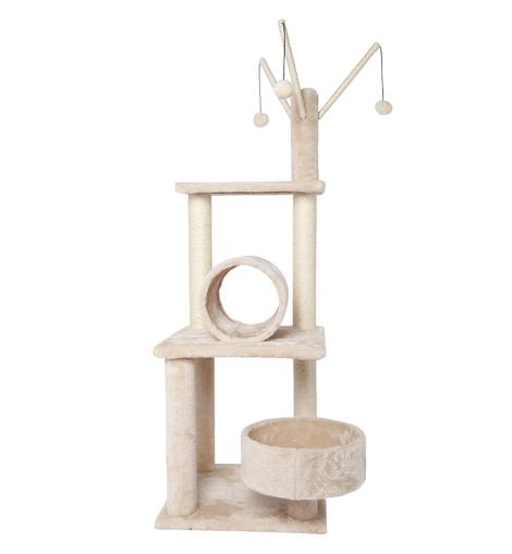 POILS BEBE BEIGE-COLOR CAT ACTIVITY TREE AND TOWER