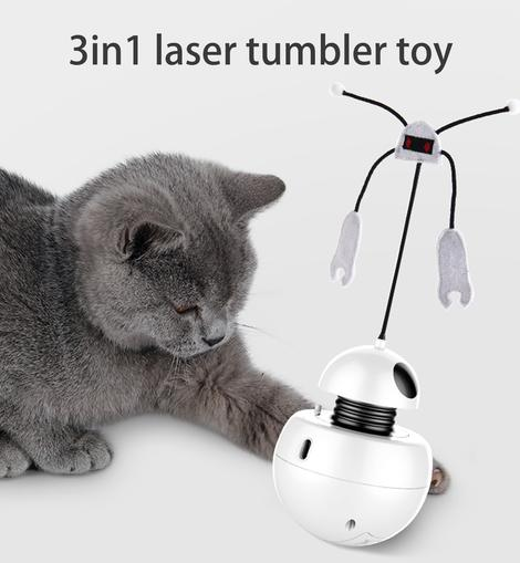 POILS BEBE 3IN1 LASER TUMBLER CAT TOY