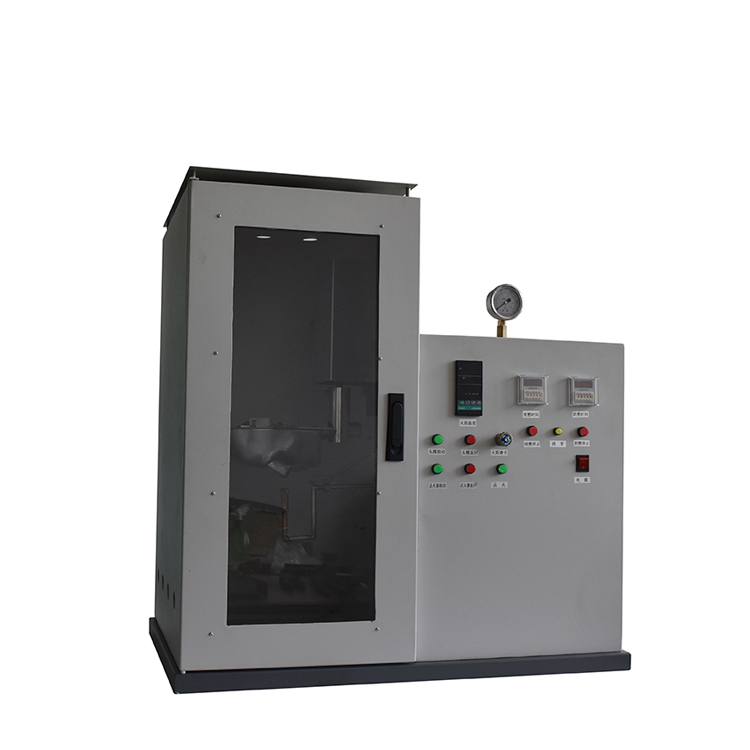 Flame-retardant medical mask tester