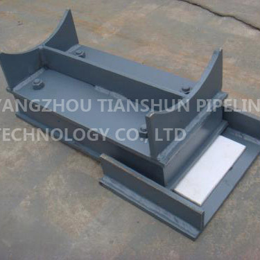 Welded pipe support