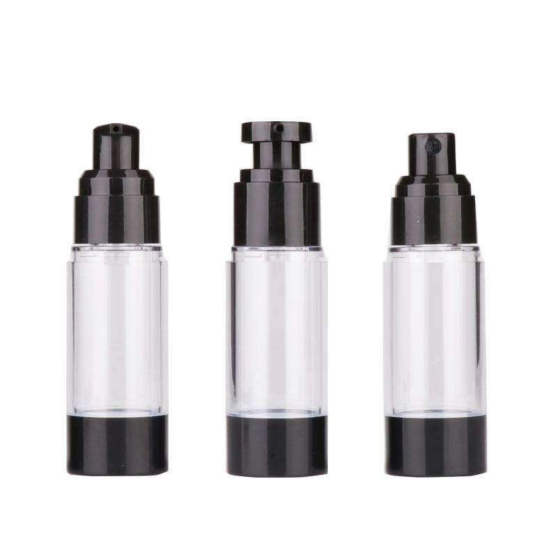 Black airless bottle