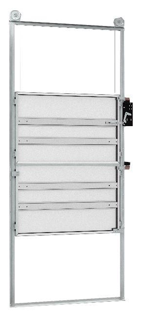 Cargo Elevator Top-Down Fire Rated Lift Landing Doors