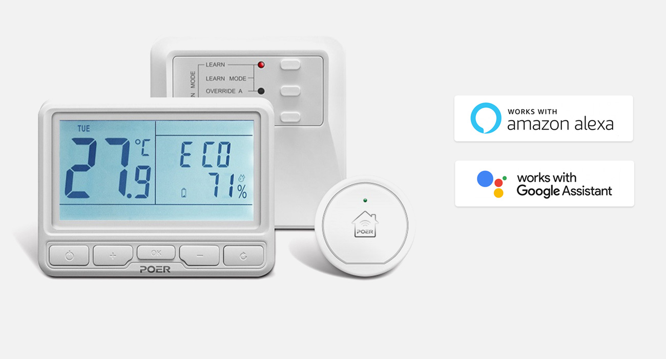 POER PTC10+PTR10+PTG10 Wifi Wireless Thermostat