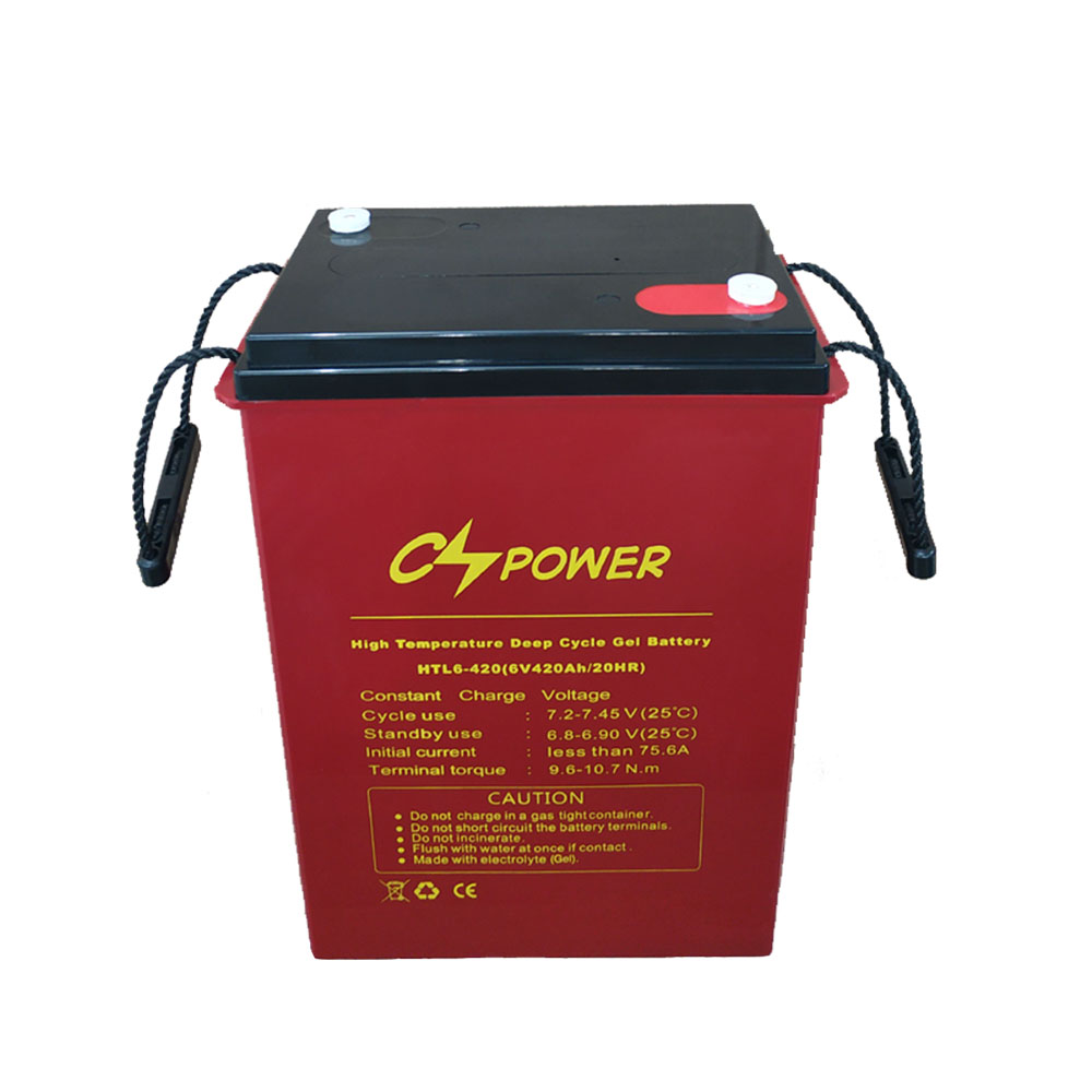 CSPOWER HTL series 6v 420Ah High Temperature Deep Cycle long life Gel Battery For Solar
