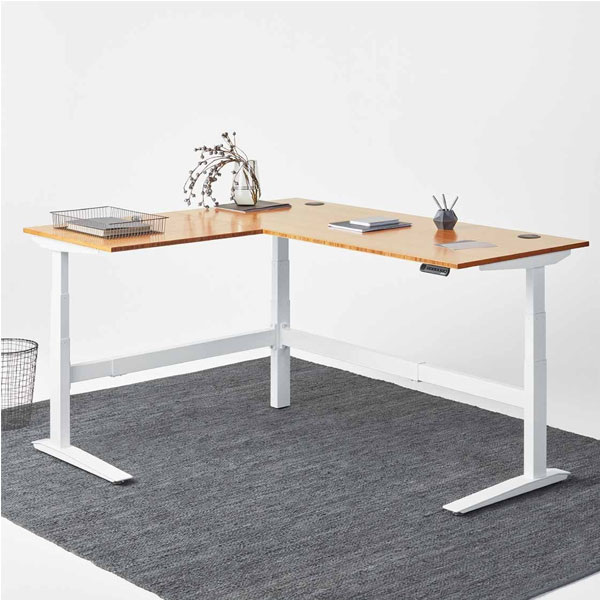 Three Motor Automatic Height Adjustable Standing Desk With Three Legs
