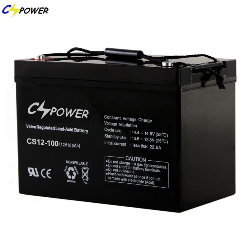 CSPOWER CS12 Low Capacity maintenance free Vrla agm Battery UPS systems Emergency systems 12V 100Ah