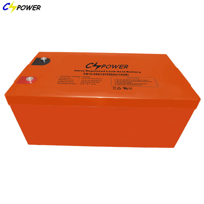 CSPOWER CS12 Low Capacity maintenance free Vrla agm Battery UPS systems Emergency systems 12V 250Ah