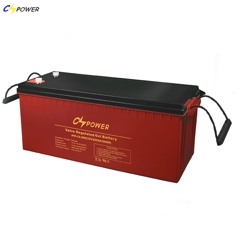 CSPOWER Battery 12v 200ah 120ah 150ah maintenance-free long life deep cycle gel battery for solar